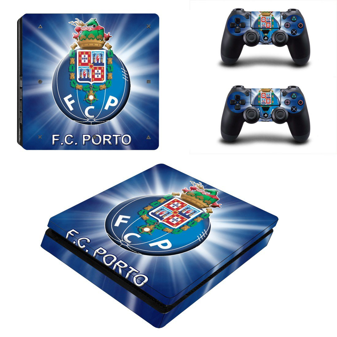 FC Porto decal skin sticker for PS4 Slim console and controllers