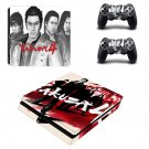Yakuza 4 decal skin sticker for PS4 Slim console and controllers
