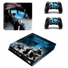 Carolina Panthers decal skin sticker for PS4 Slim console and controllers