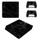 Black Broken Glass decal skin sticker for PS4 Slim console and controllers