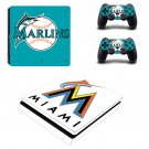Miami Dolphins decal skin sticker for PS4 Slim console and controllers