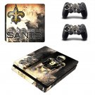 New Orleans Saints decal skin sticker for PS4 Slim console and controllers
