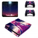 Sword Art Online decal skin sticker for PS4 Slim console and controllers
