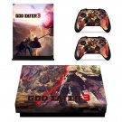 God Eater 3 decal skin sticker for Xbox One X console and controllers