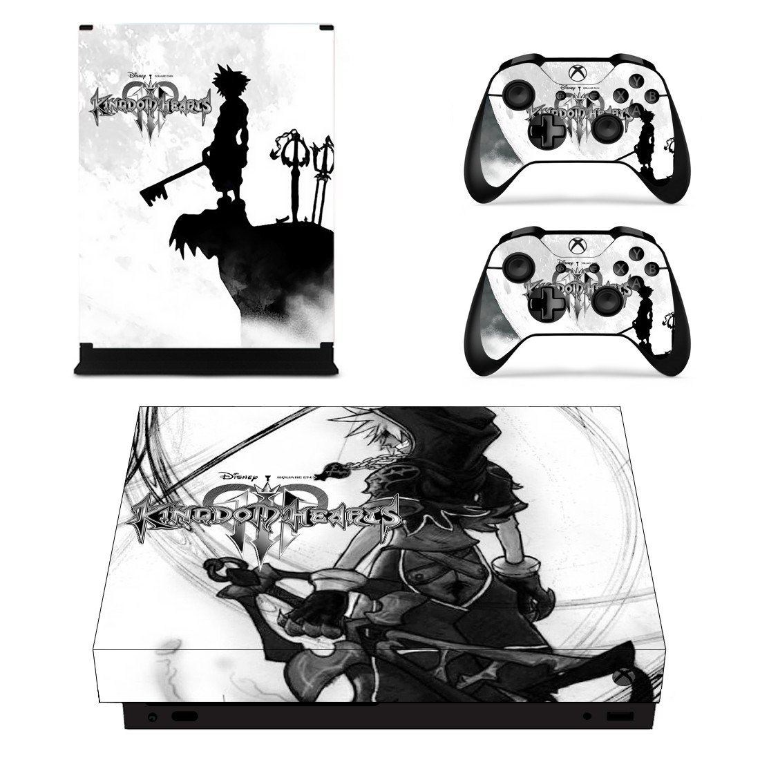 Kingdom Hearts 3 decal skin sticker for Xbox One X console and controllers