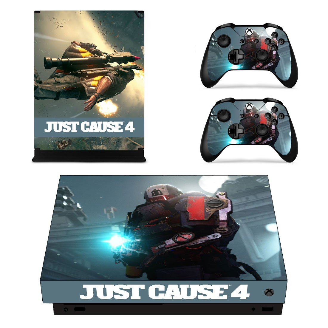 Just Cause 4 decal skin sticker for Xbox One X console and controllers
