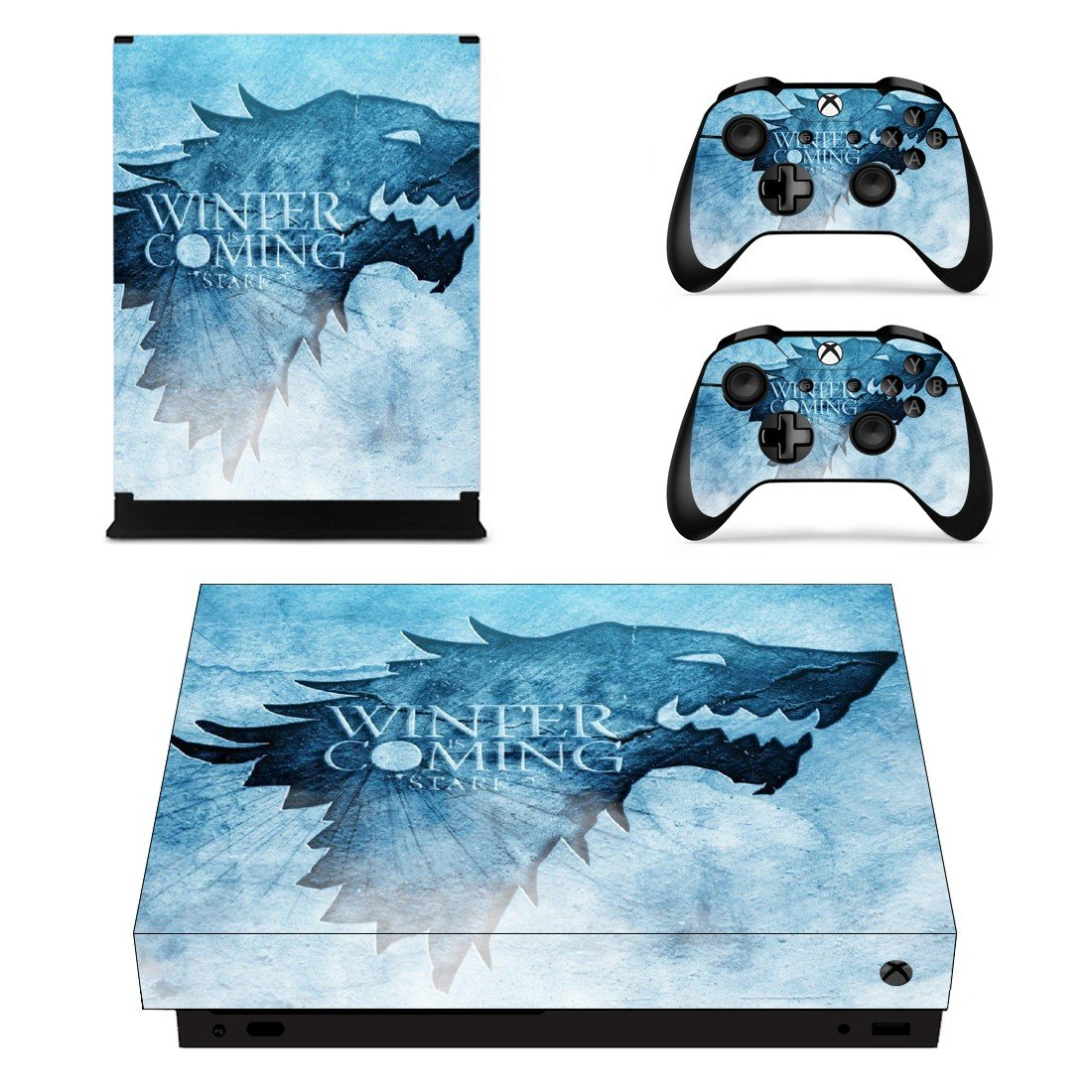 Game of Thrones decal skin sticker for Xbox One X console and controllers
