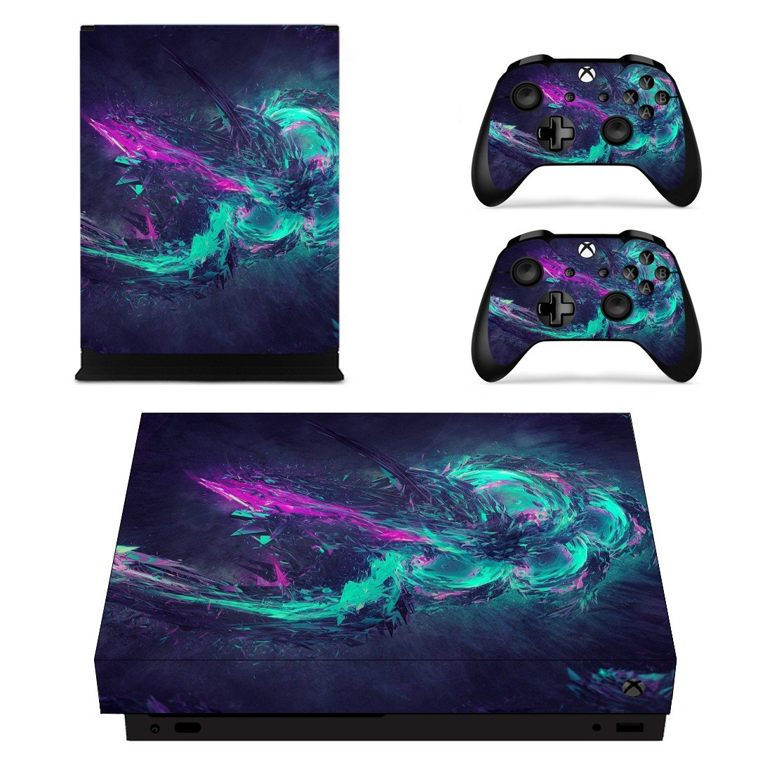 Abstraction decal skin sticker for Xbox One X console and controllers