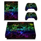 3D Abstract decal skin sticker for Xbox One X console and controllers