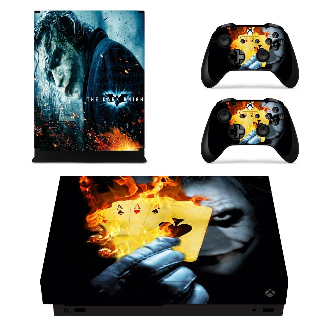 The Joker decal skin sticker for Xbox One X console and controllers