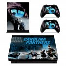 Carolina Panthers decal skin sticker for Xbox One X console and controllers