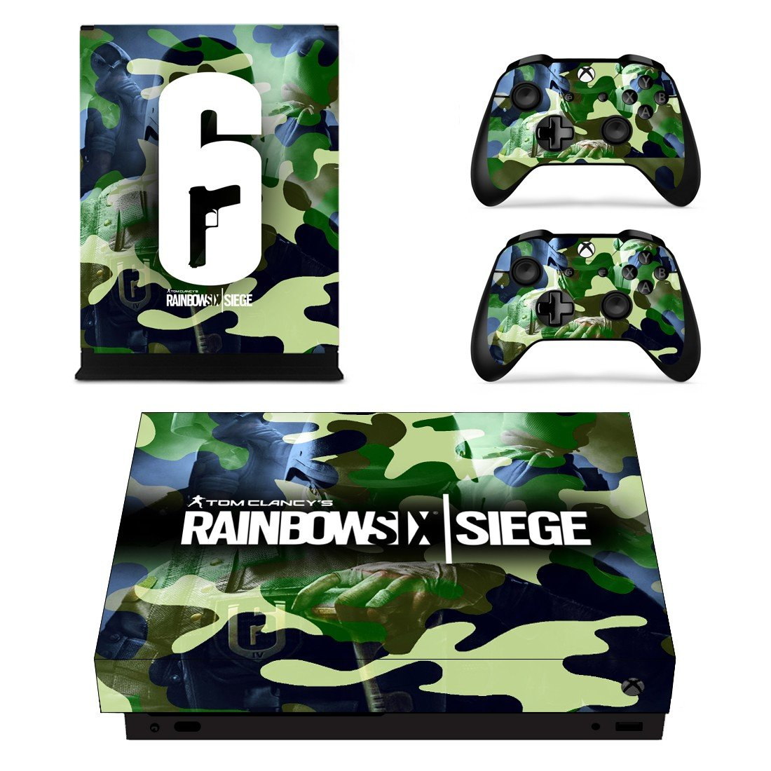 Rainbow Six Siege decal skin sticker for Xbox One X console and controllers