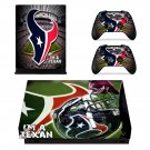 Houston Texans decal skin sticker for Xbox One X console and controllers