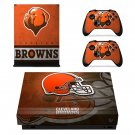 Cleveland Browns decal skin sticker for Xbox One X console and controllers
