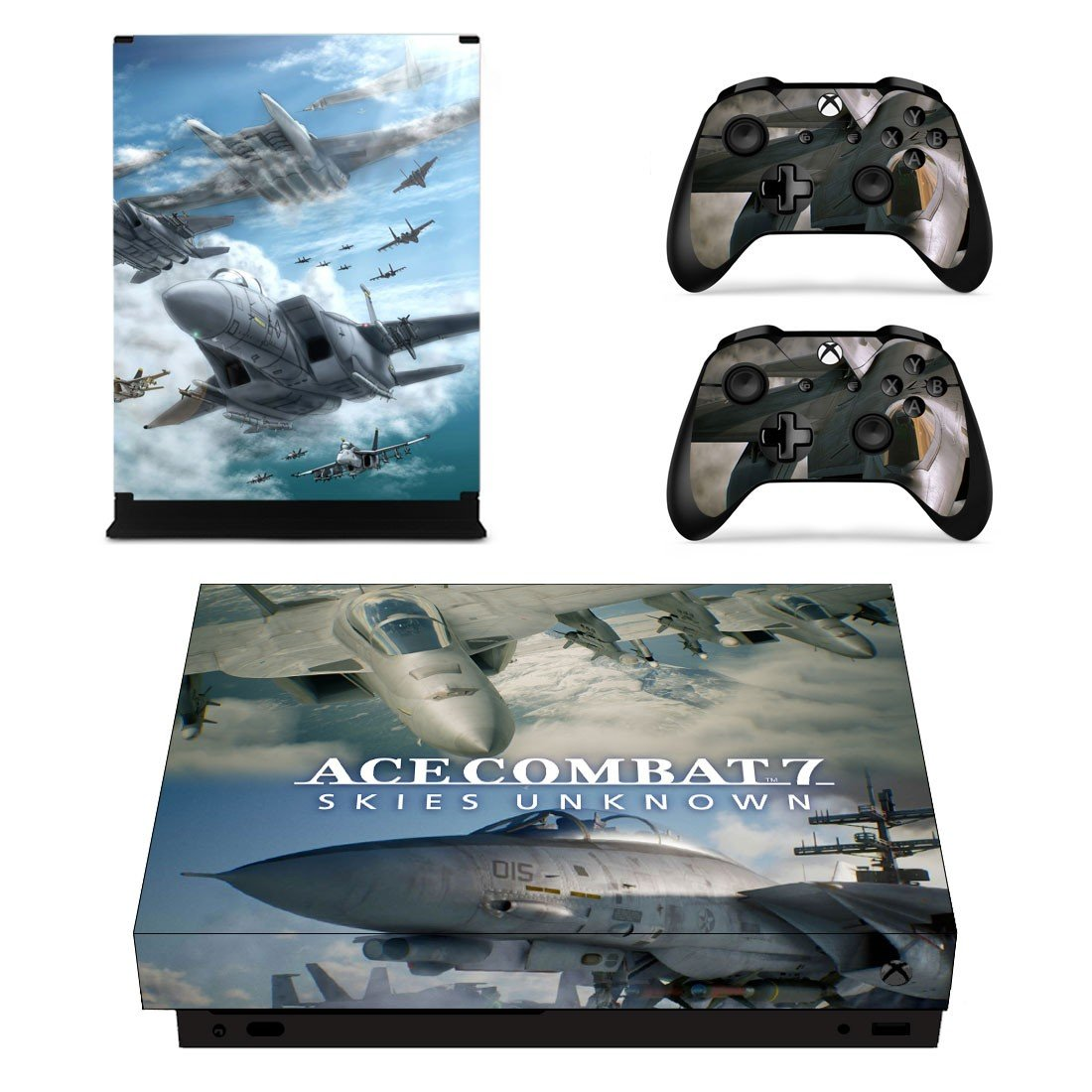 ACE Combat 7 decal skin sticker for Xbox One X console and controllers
