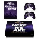 Baltimore Ravens decal skin sticker for Xbox One X console and controllers