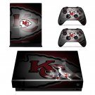 Kansas City Chiefs decal skin sticker for Xbox One X console and controllers