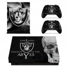 Oakland Raiders decal skin sticker for Xbox One X console and controllers