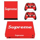 Supreme decal skin sticker for Xbox One X console and controllers