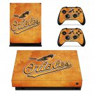 Baltimore Orioles decal skin sticker for Xbox One X console and controllers