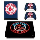 Boston Red Sox decal skin sticker for Xbox One X console and controllers