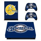 Milwaukee Brewers decal skin sticker for Xbox One X console and controllers