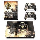 New Orleans Saints decal skin sticker for Xbox One X console and controllers
