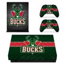Milwaukee Bucks decal skin sticker for Xbox One X console and controllers