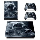 Smoky Skull decal skin sticker for Xbox One X console and controllers