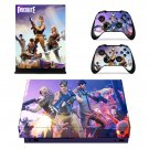 Fortnite decal skin sticker for Xbox One X console and controllers