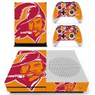 Tampa Bay Buccaneers decal skin sticker for Xbox One S console and controllers