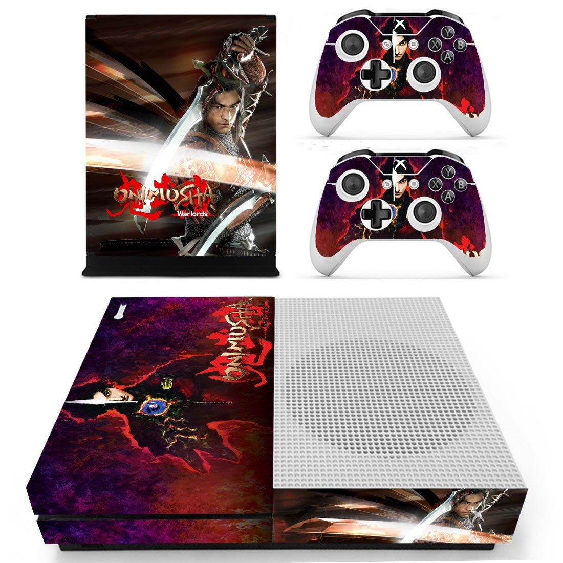 Onimusha decal skin sticker for Xbox One S console and controllers