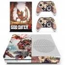 God Eater 3 decal skin sticker for Xbox One S console and controllers