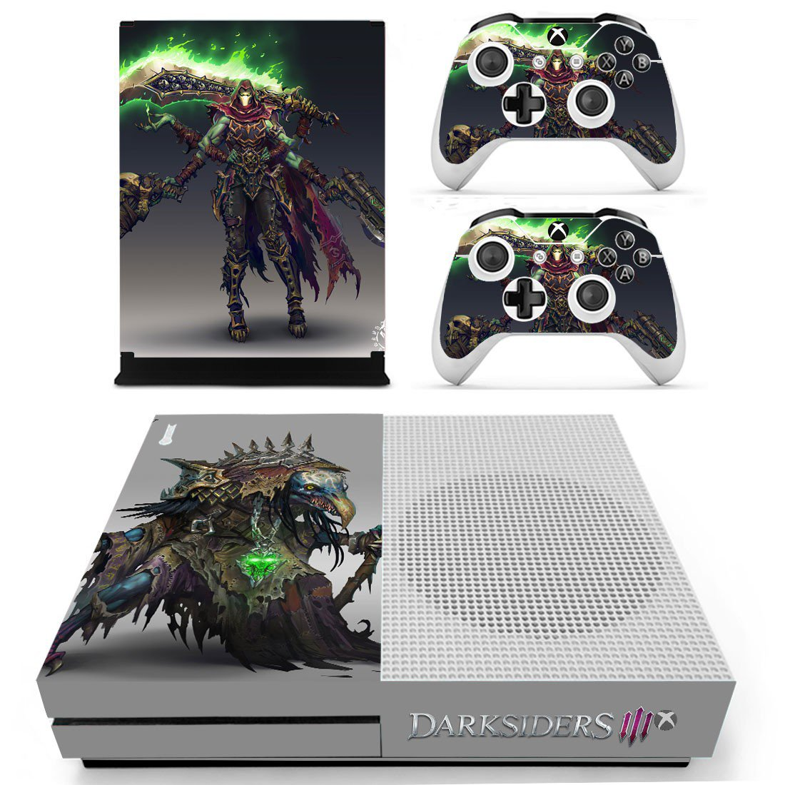 Darksiders 3 decal skin sticker for Xbox One S console and controllers