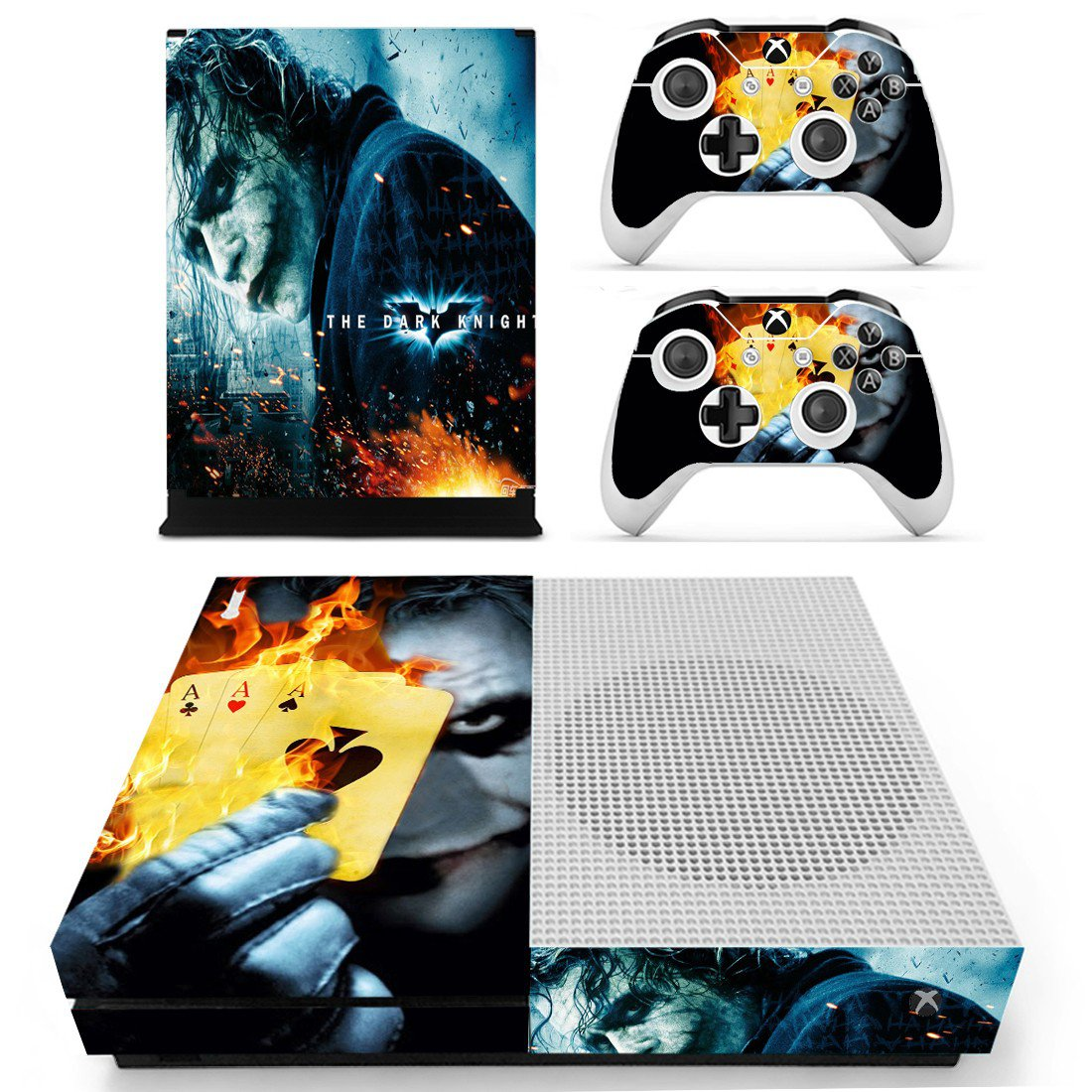 The Dark Knight decal skin sticker for Xbox One S console and controllers
