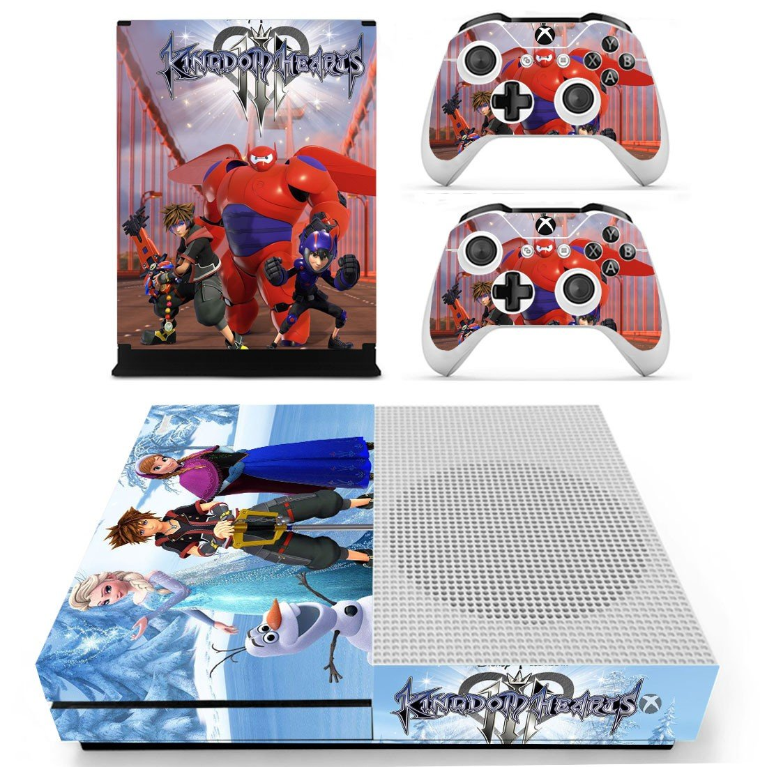 Kingdom Hearts 3 decal skin sticker for Xbox One S console and controllers
