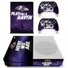 Baltimore Ravens decal skin sticker for Xbox One S console and controllers