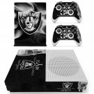 Oakland Raiders decal skin sticker for Xbox One S console and controllers