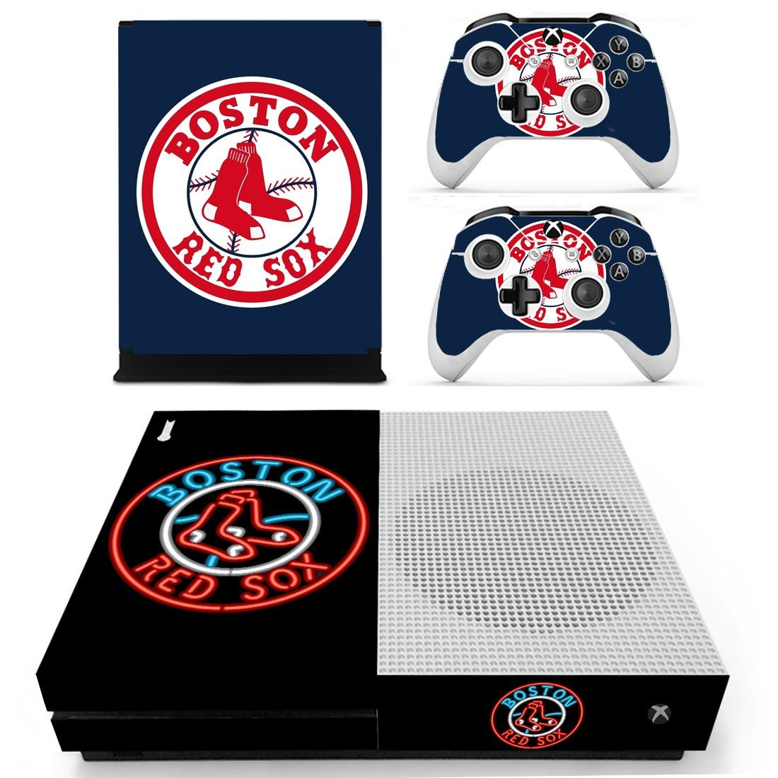 Boston Red Sox decal skin sticker for Xbox One S console and controllers