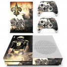 New Orleans Saints decal skin sticker for Xbox One S console and controllers