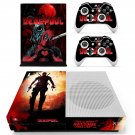 Deadpool decal skin sticker for Xbox One S console and controllers