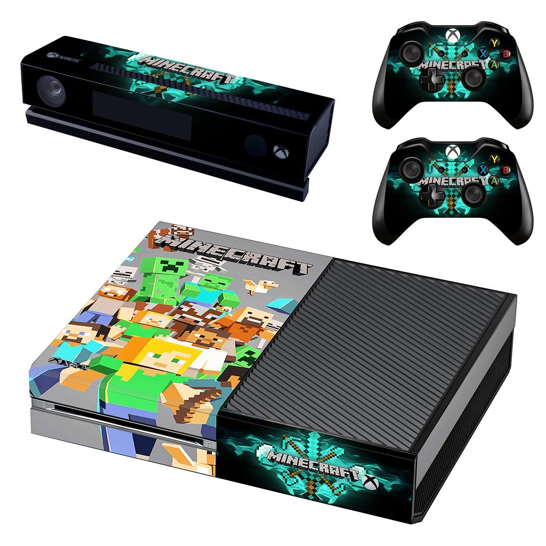 Minecraft decal skin sticker for Xbox One console and controllers