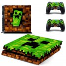 Minecraft decal skin sticker for PS4 console and controllers