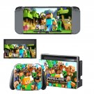 Minecraft decal skin sticker for Nintendo Switch console and controllers