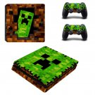 Minecraft decal skin sticker for PS4 Slim console and controllers