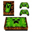 Minecraft decal skin sticker for Xbox One X console and controllers