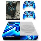 Minecraft decal skin sticker for Xbox One S console and controllers