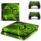 Biohazard decal skin sticker for PS4 console and controllers