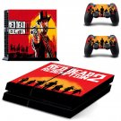 Reddead Redemption 2 decal skin sticker for PS4 console and controllers