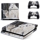 Wolves decal skin sticker for PS4 console and controllers
